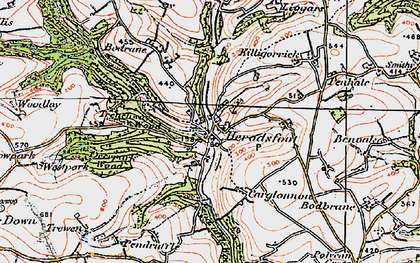 Old map of Herodsfoot in 1919