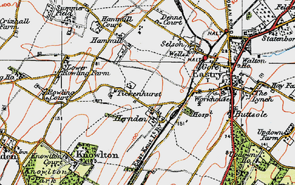 Old map of Tickenhurst in 1920