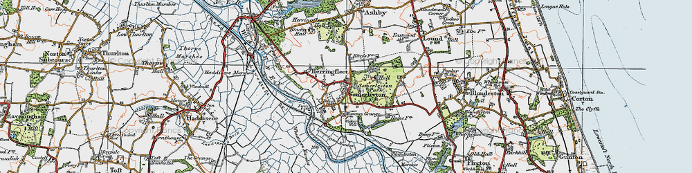 Old map of Wicker Well in 1922