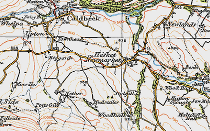 Old map of Wood Hall in 1925