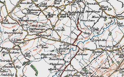Old map of Astley Ho in 1924