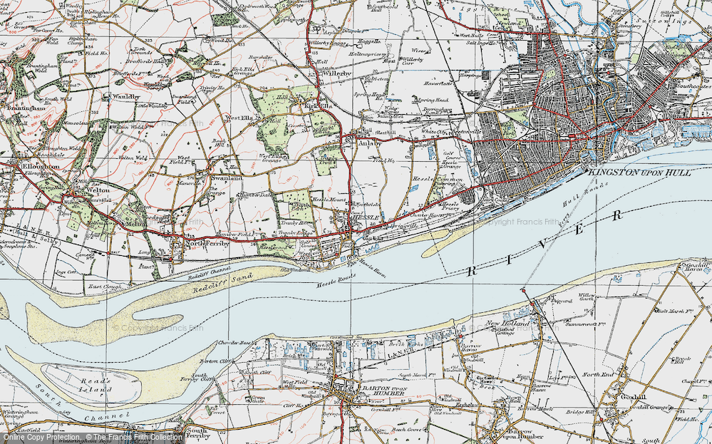 Old Map of Hessle, 1924 in 1924