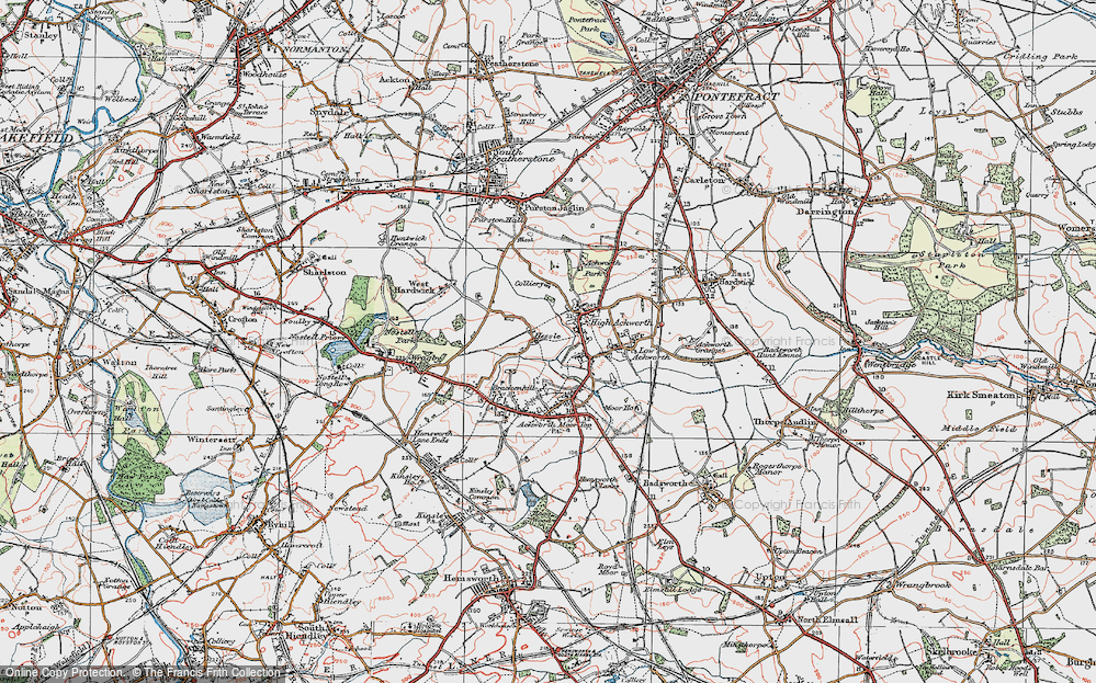 Old Map of Hessle, 1925 in 1925