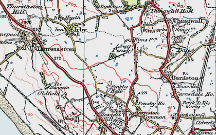 Old map of Heswall in 1924