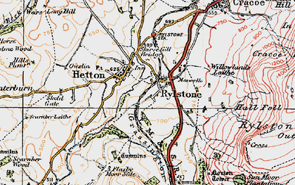 Old map of Willowlands Laithe in 1925