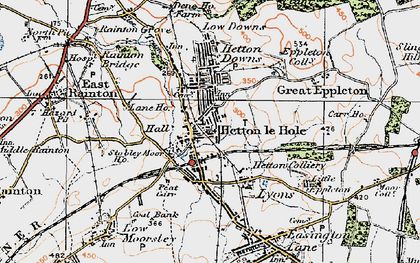 Old map of Hetton-Le-Hole in 1925