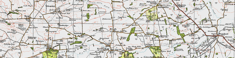 Old map of Westerheugh in 1925
