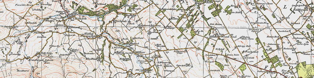 Old map of Wharton Ho in 1925