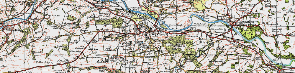 Old map of Hexham in 1925