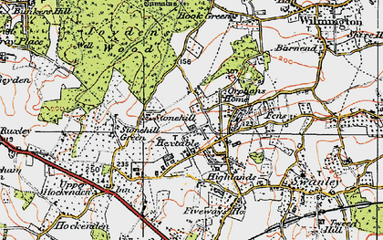 Old map of Hextable in 1920