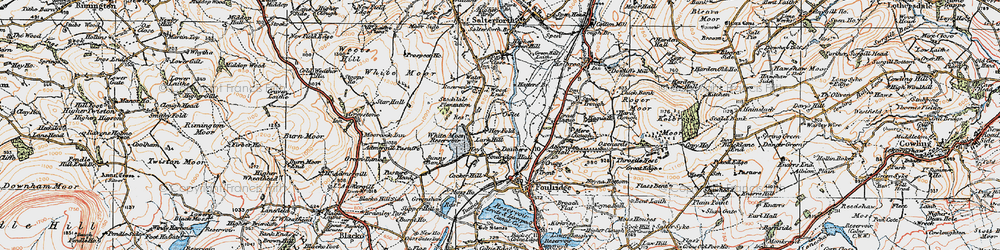Old map of Admergill Pasture in 1924