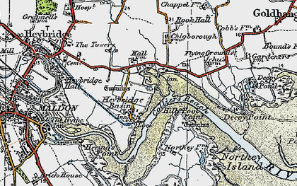 Old map of Limbourne Creek in 1921