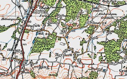 Old map of Heyshott in 1919