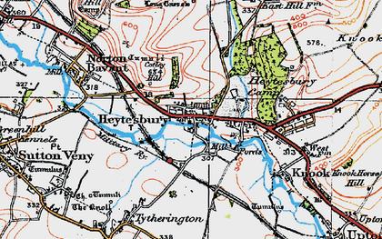 Old map of Heytesbury in 1919