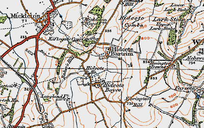 Old map of Baker's Hill in 1919