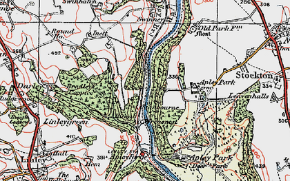 Old map of Bagley's Rough in 1921