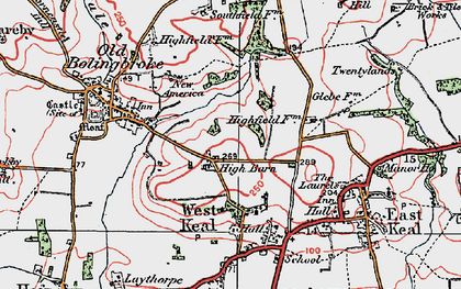 Old map of Wheelabout Wood in 1923