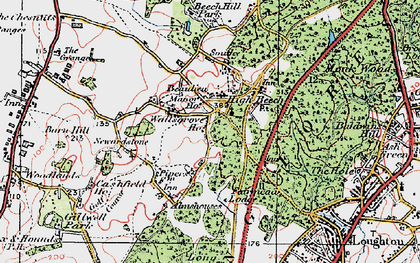 Old map of Whitehouse Plain in 1920