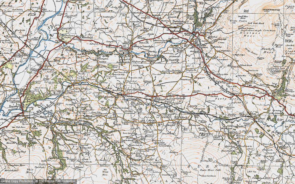 Old Map of High Bentham, 1924 in 1924