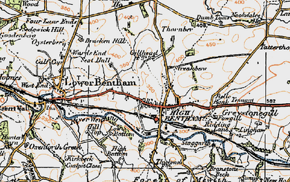 Old map of High Bentham in 1924