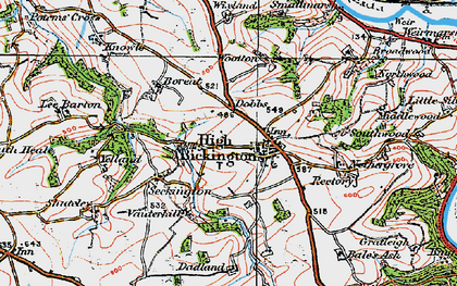 Old map of Bale's Ash in 1919