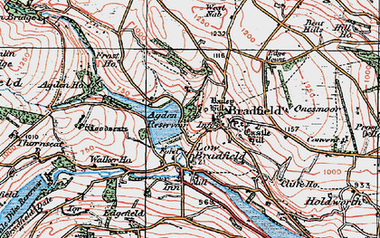 Old map of Agden Resr in 1923