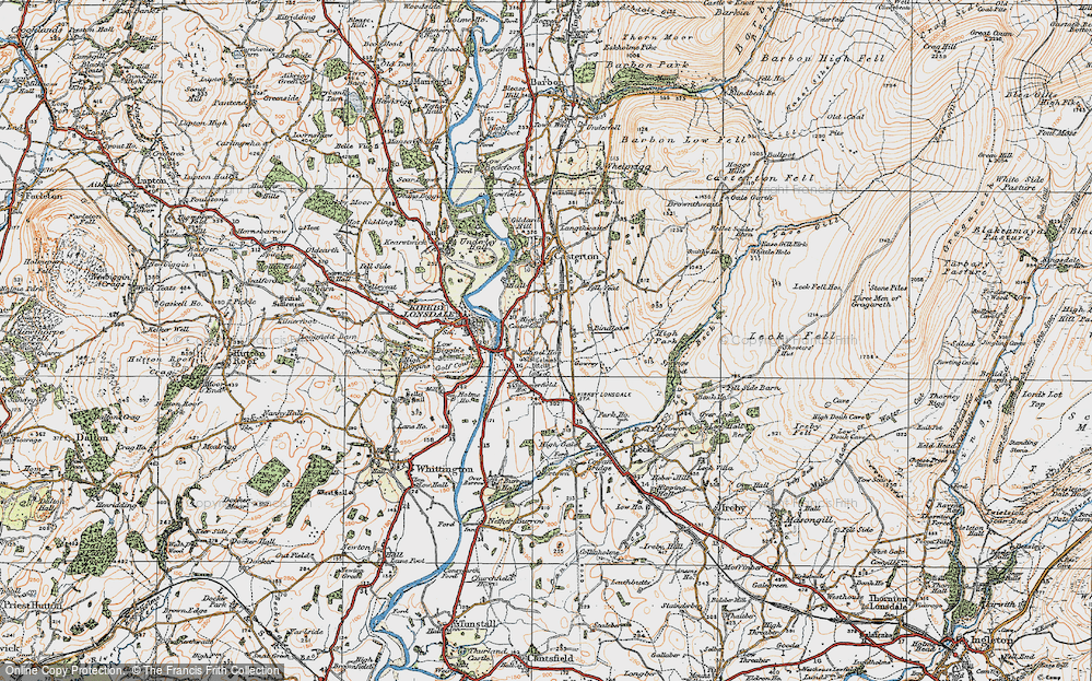 Old Map of High Casterton, 1925 in 1925