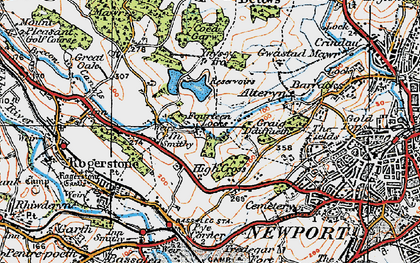 Old map of High Cross in 1919