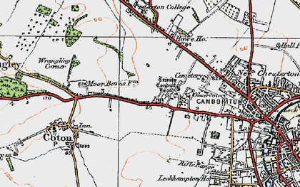 Old map of Wrangling Corner in 1920