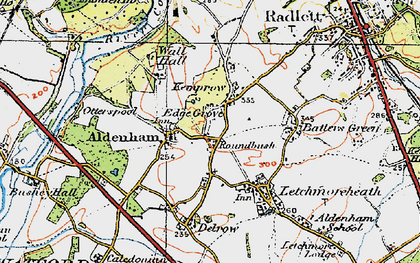 Old map of High Cross in 1920