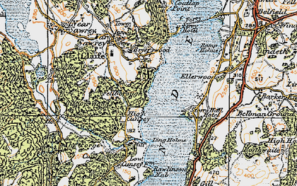 Old map of Bark House Wood in 1925