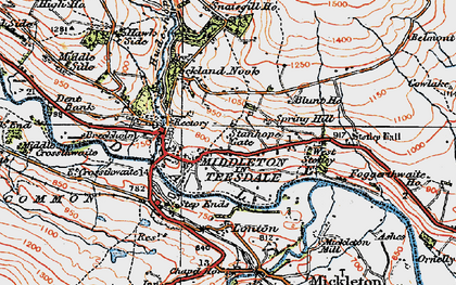 Old map of West Stotley in 1925