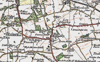 Old map of High Etherley in 1925
