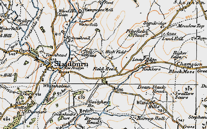 Old map of Wilton Hills in 1924