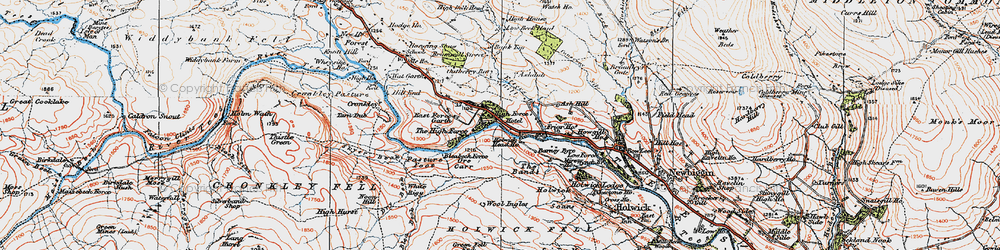 Old map of Wool Ingles in 1925