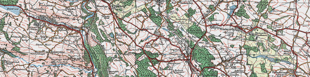 Old map of Westwood Country Park in 1924