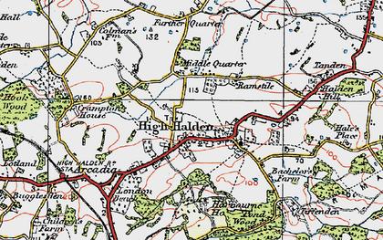 Old map of High Halden in 1921