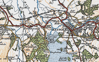 Old map of Lingholm in 1925