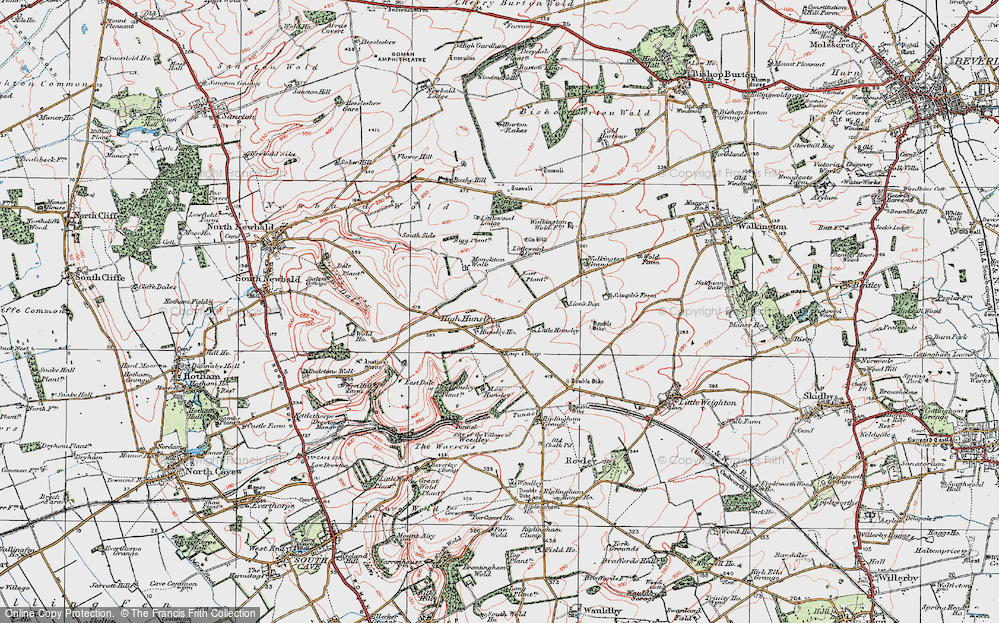 Old Map of Historic Map covering Lion's Den in 1924