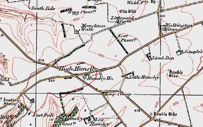 Old map of Lion's Den in 1924