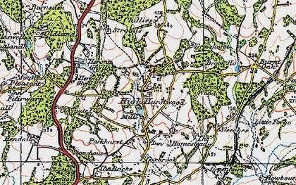Old map of High Hurstwood in 1920