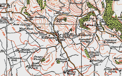 Old map of Acre Ho in 1925