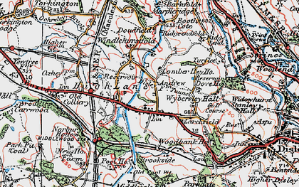 Old map of Wybersley Hall in 1923