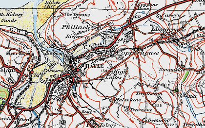 Old map of High Lanes in 1919