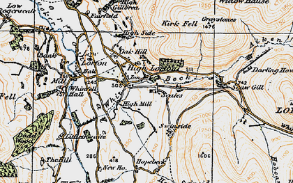 Old map of Aiken Beck in 1925