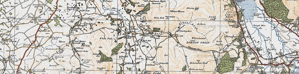 Old map of Widow Hause in 1925