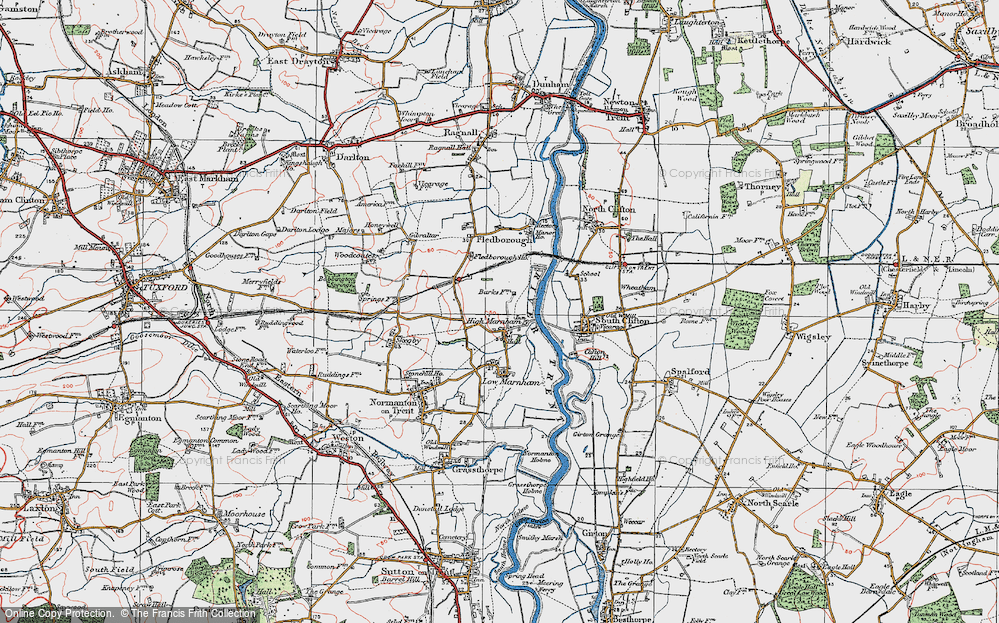 Old Map of High Marnham, 1923 in 1923