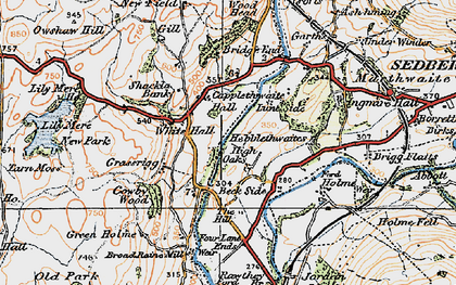 Old map of White Hall in 1925