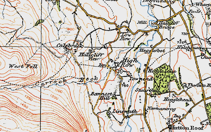 Old map of Bannest Hill in 1925