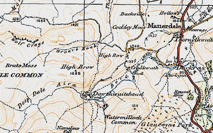 Old map of Aira Beck in 1925